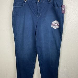 NWT Gloria Vanderbilt Women's Jeans Size 22W Short